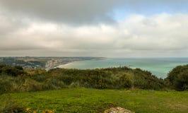 Paysage près de Fecamp sur la côte de la Manche dans Normady, France image libre de droits