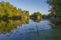 Paysage près de la rivière de Myhiia l'ukraine Photo libre de droits