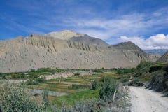 Paysage près de mustang, Katmandou photos libres de droits