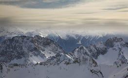 Paysage près de Zugspitze bavaria l'allemagne photo stock