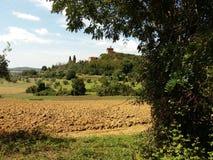 Paysage, région de la Toscane, Italie Images stock
