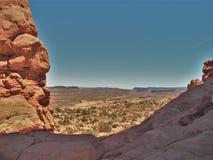 Paysage rapide au parc national de voûtes en Utah Photo stock