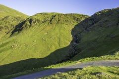 Paysage renversant de parc national de secteur de lac, Cumbria, R-U photographie stock libre de droits