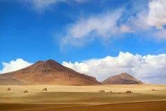Paysage renversant de Salvador Dali Desert en réservation d'Eduardo Avaroa Andean Fauna National, Sur Lipez, Bolivie images libres de droits