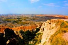 Paysage rocailleux de parc national de bad-lands image libre de droits