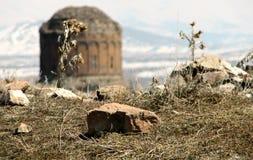 Paysage rocailleux et ruines d'Ani antique Photographie stock libre de droits