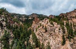 Paysage rocheux de sept automnes à Colorado Springs Photos libres de droits