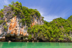 Paysage rocheux de stationnement national de Phang Nga Image libre de droits