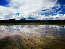 Paysage rocheux de volcan moulu en parc national photographie stock
