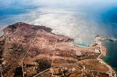 Paysage rocheux en île de Malte Photographie stock
