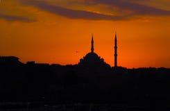 Paysage romantique étonnant, minarets antiques Images libres de droits