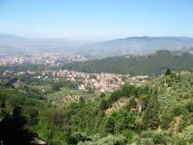Paysage romantique de la Toscane Photographie stock