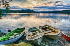 Paysage romantique de lac en Europe Images stock