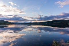 Paysage romantique de lac en Europe Image libre de droits