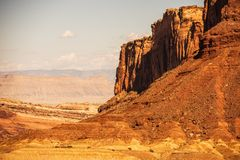 Paysage rougeâtre de l'Utah photo stock
