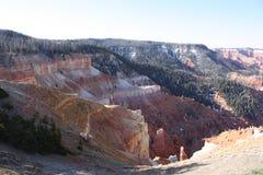 Paysage rouge de désert de montagne Photo libre de droits