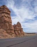 Paysage rouge de formation de roche Photographie stock