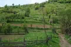 Paysage roumain rural photographie stock libre de droits