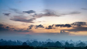 Paysage rural à Guilin images libres de droits