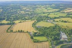 Paysage rural aérien près d'aéroport de Gatwick Images stock
