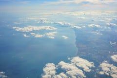 Paysage rural aérien près d'aéroport de Gatwick Photo libre de droits
