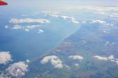 Paysage rural aérien près d'aéroport de Gatwick Photo stock
