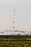 Paysage rural avec la tour hertzienne photo stock