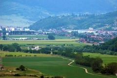 Paysage rural d'en haut Photos stock