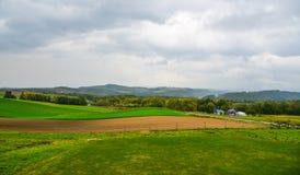 Paysage rural dans Biei, Japon photographie stock