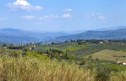 Paysage rural dans le chianti, Italie image stock