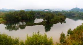Paysage rural dans le comté wuyuan, province de Jiangxi, Chine photos libres de droits