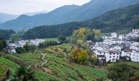 Paysage rural dans le comté wuyuan, province de Jiangxi, Chine image stock