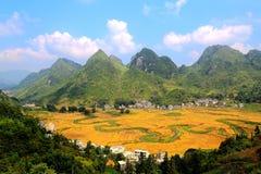 Paysage rural dans le counteyside chinois photographie stock libre de droits