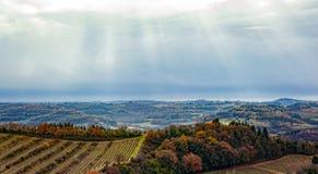 Paysage rural de campagne des collines de la Toscane image libre de droits