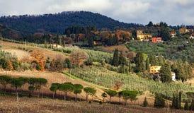 Paysage rural de campagne des collines de la Toscane images libres de droits