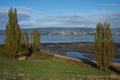 Paysage rural de Chiloe photographie stock libre de droits