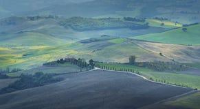 Paysage rural de coucher du soleil de la Toscane photo libre de droits
