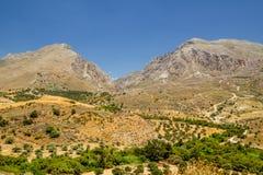Paysage rural de Crète Image stock