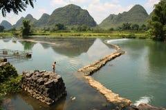 Paysage rural de la Chine de Yangshou Photo libre de droits