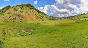 Paysage rural de la Roumanie image stock