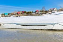 Paysage rural de ressort par la rivière Berdsk, oblast de Novosibirsk, Photo libre de droits