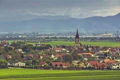 Paysage rural de Transylvanian image stock