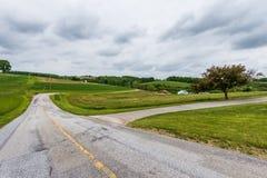 Paysage rural des terres cultivables du comté de Hartford dans le Maryland du nord photo libre de droits