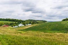 Paysage rural des terres cultivables du comté de Hartford dans le Maryland du nord photos stock
