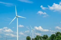 Paysage rural du moulin de vent Image stock