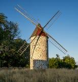 Paysage rural du moulin de vent Photos stock