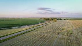 Paysage rural du Nébraska dans la vue aérienne photos libres de droits