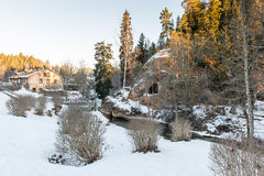 Paysage rural en hiver Photo stock