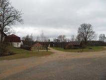 Paysage rural en Lettonie photo libre de droits