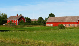 Paysage rural. Ferme photos stock